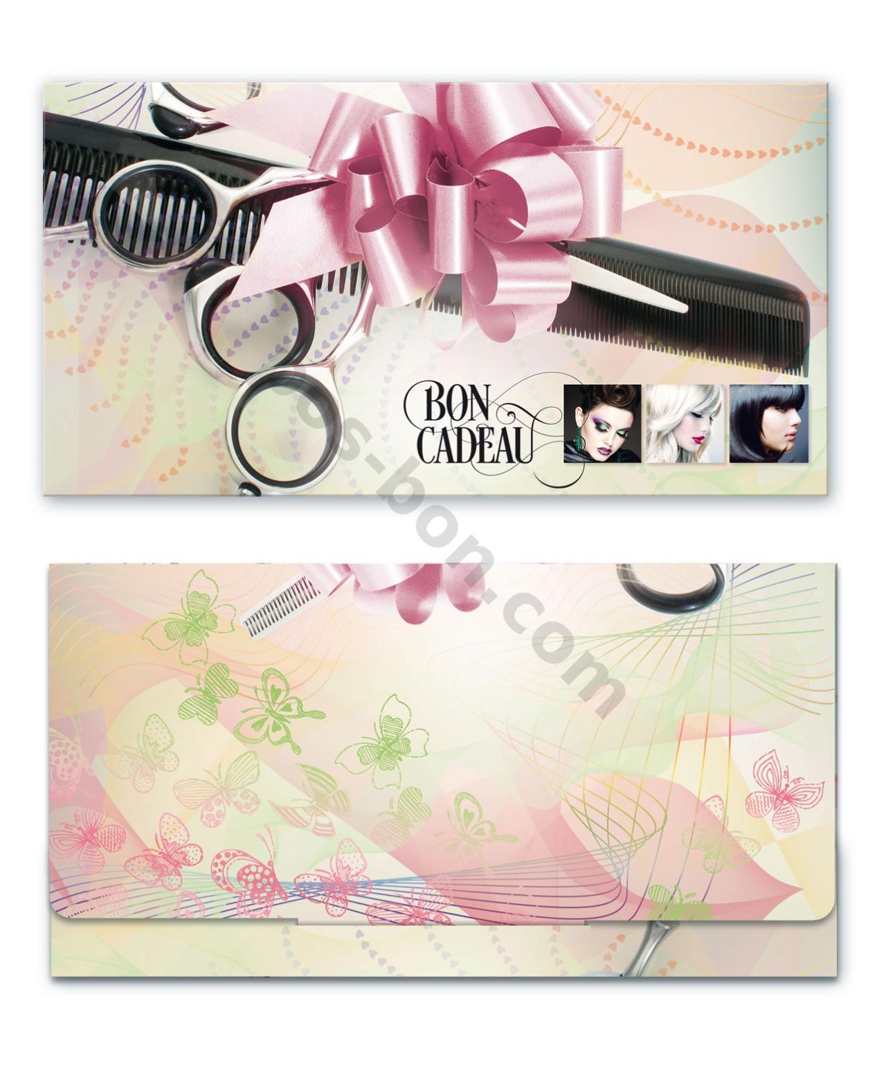 K20F Bon-cadeau MC / coiffeur salon de coiffure  pos-bon.com