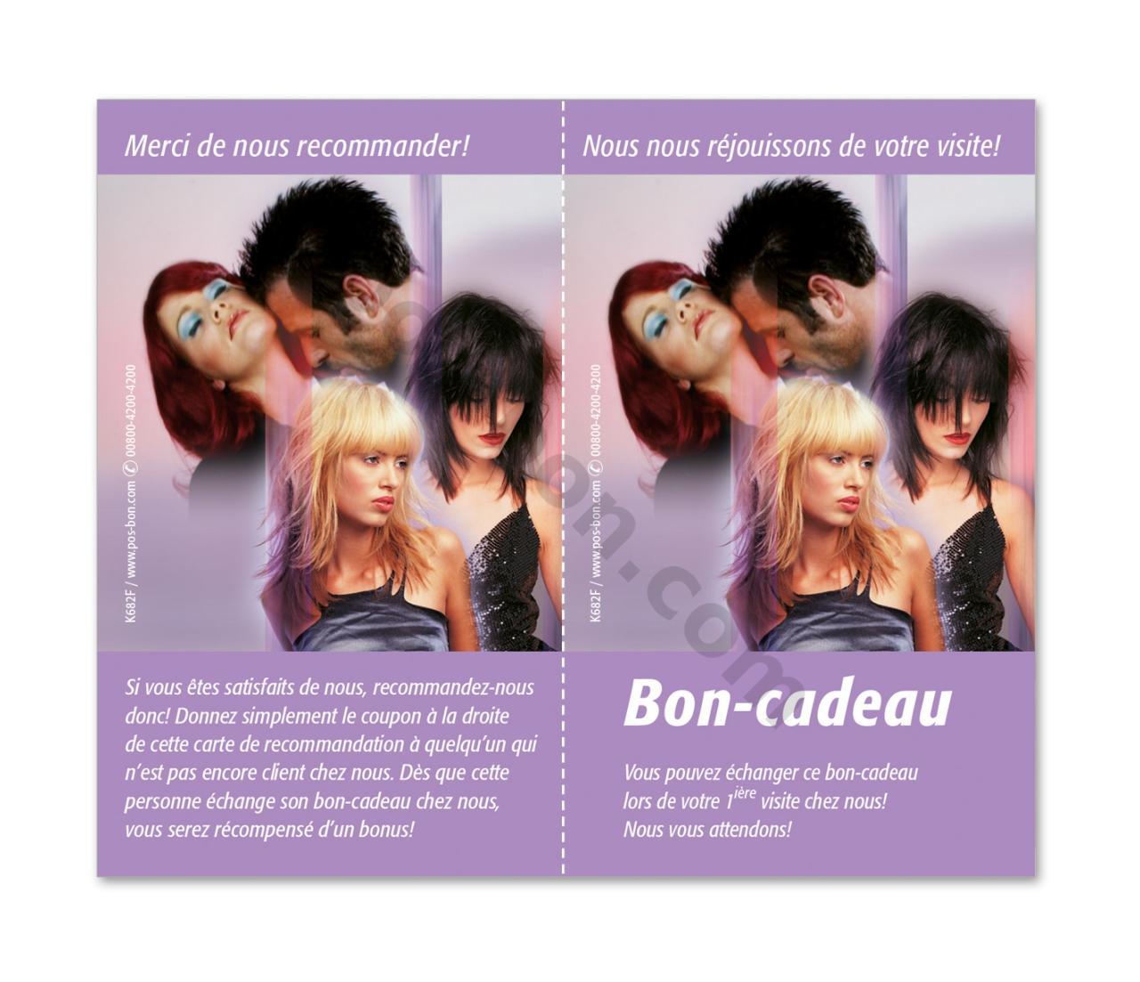 K20F Cartes de recommandation / coiffeur salon de coiffure  pos